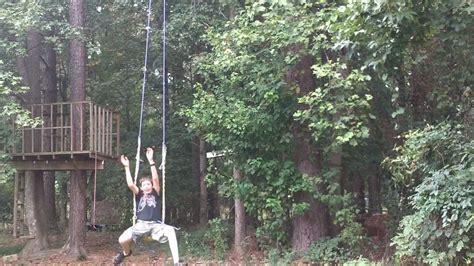 longest rope swing giant backyard rope swing youtube