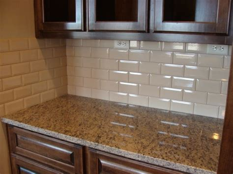 beveled edge crackled glass finish subway tiles for