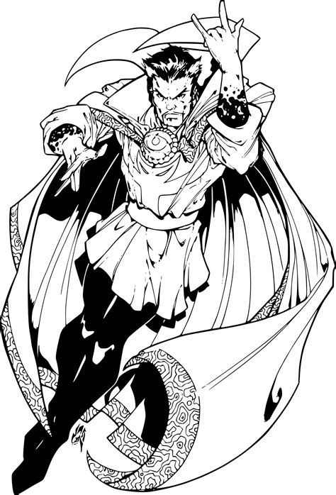 Coloriage Doctor Strange 224 Imprimer Sur Coloriages Info