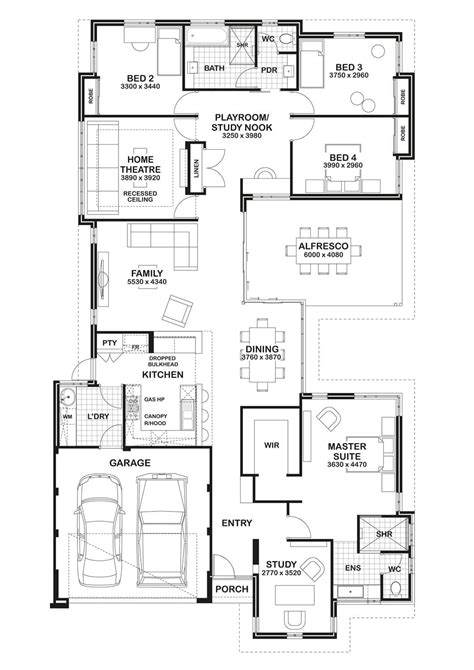 Floor Plan Friday Study Home Theatre Open Play Area Floor Plans For Home Theater