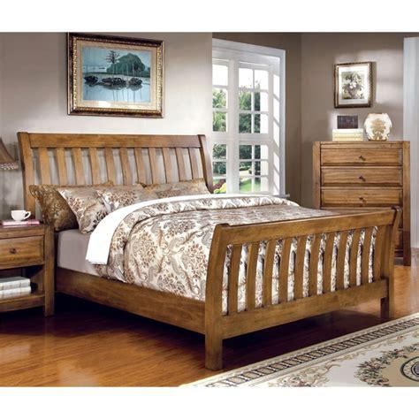 california king sleigh bedroom set furniture of america leanna california king slat sleigh