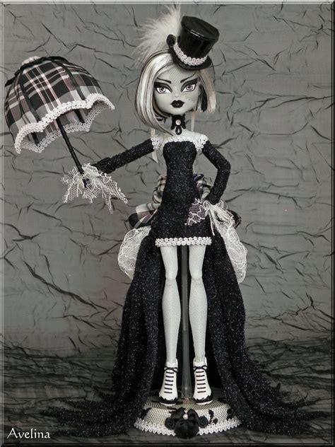 Dress Moster Dress Black ooak high doll by kriskreations on