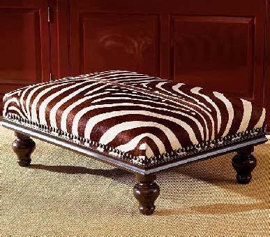 Zebra Ottoman Coffee Table Dose Of Design It Zebra Ottoman