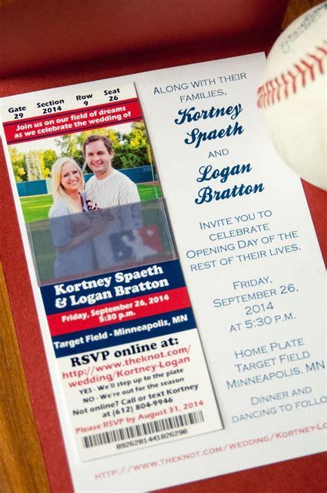 wedding invitations mn baseball themed wedding invitation minnesota wedding