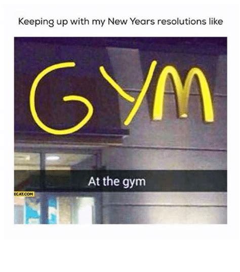 New Years Gym Meme - keeping up with my new years resolutions like at the gym