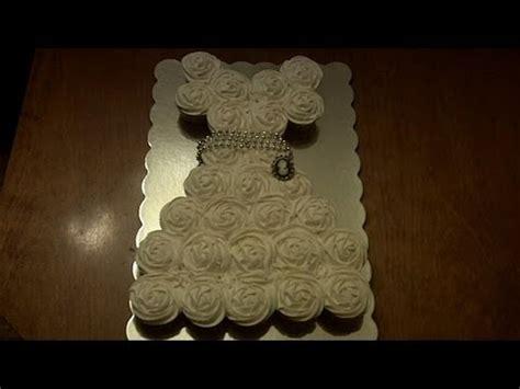 how to make a cupcake bridal shower cake how to make a wedding dress cupcake cake