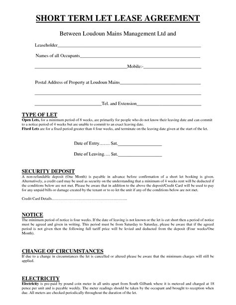 term tenancy agreement template uk 28 term rental agreement form free rental