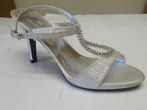 de blossom s silver sparkle rhinestone low heel dress shoes size 7 5 ebay