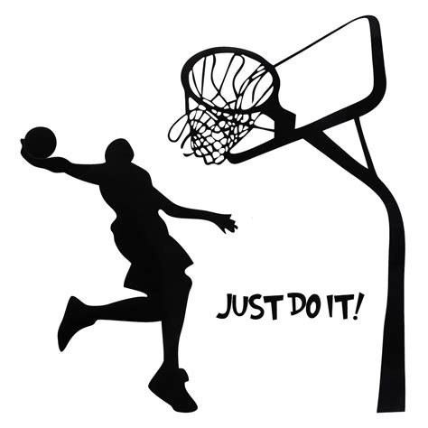 basketball wall stickers just do it basketball wall decal diy removable sports home