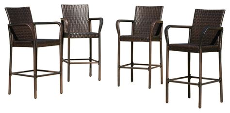 Stewart outdoor bar stools set of 4 contemporary outdoor bar stools and counter stools by