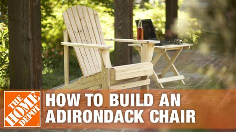 build  adirondack chair  home depot youtube