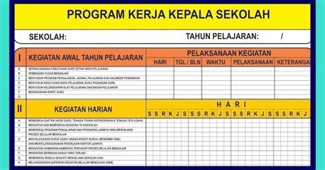 Administrasi Sekolah Dan Manajemen Kelas H Sudarwan Danim Buku P program kerja kepala sekolah excel xls excel berkas sekolah
