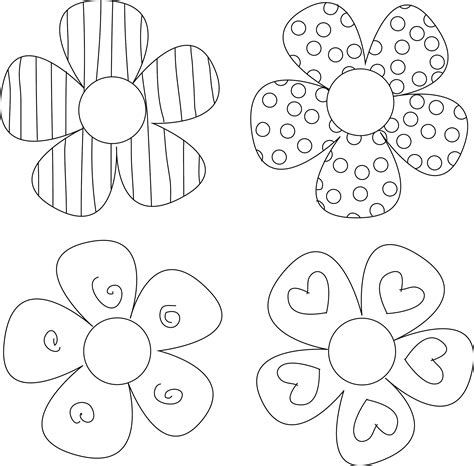 free craft templates to print printable flower templates coloring home