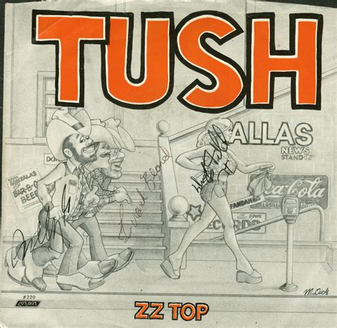 lot detail zz top billy gibbons signed quot lot detail zz top signed quot tush quot 45 album psa jsa