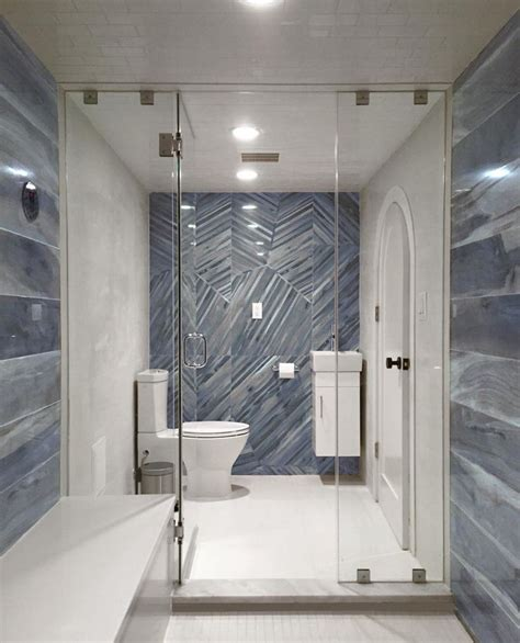 brazilian tiger blue  polished porcelain tile