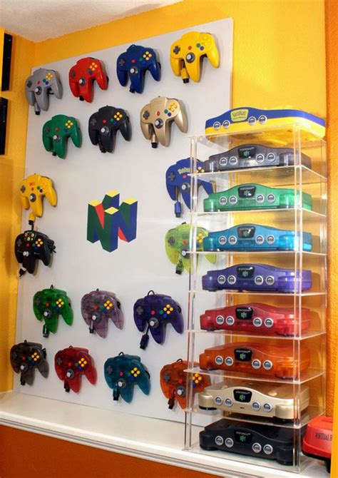 video game storage ideas colorful video game controller storage ideas