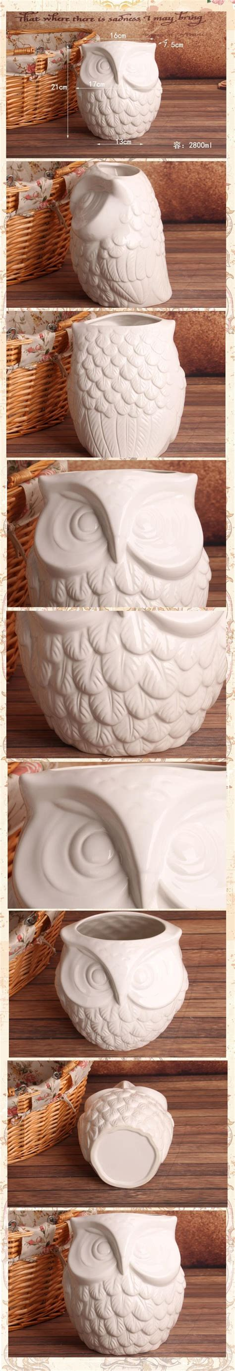 european style coruja ceramica owl home decor owl pot