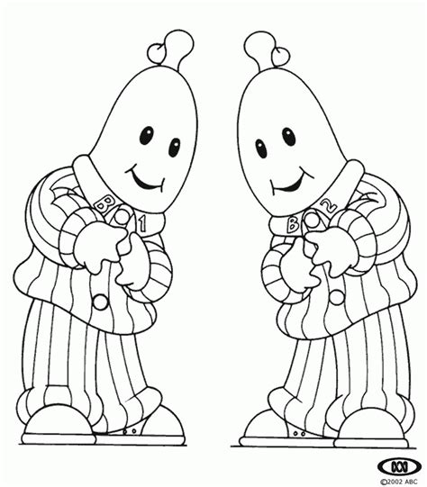 bananas in pyjamas coloring pages coloringpagesabc com