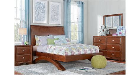 belcourt jr white 5 pc full panel bedroom teen bedroom belcourt jr cherry 5 pc full sleigh bedroom with arched base