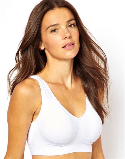 comfort bras stussy magic comfort bra in white lyst