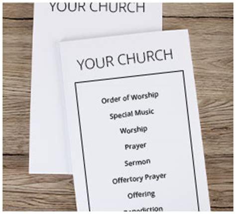 Church Worship Bulletins Church Bulletin Paper Worship Bulletin Template