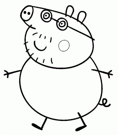 peppa pig para colorear pintar e imprimir papa pig peppa pig dibujos para colorear e imprimir