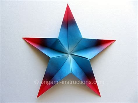 How To Make A Five Point Out Of Paper - easy origami modular 5 pointed folding
