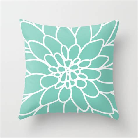 home decorative pillows dahlia pillow cover mint green by aldari home