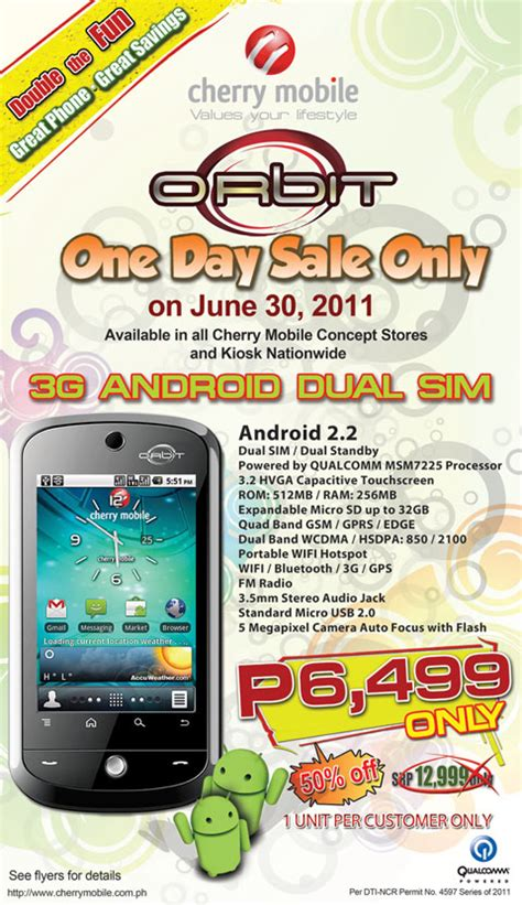 free theme download for cherry mobile w6i cherry mobile orbit one day sale philippine contests and