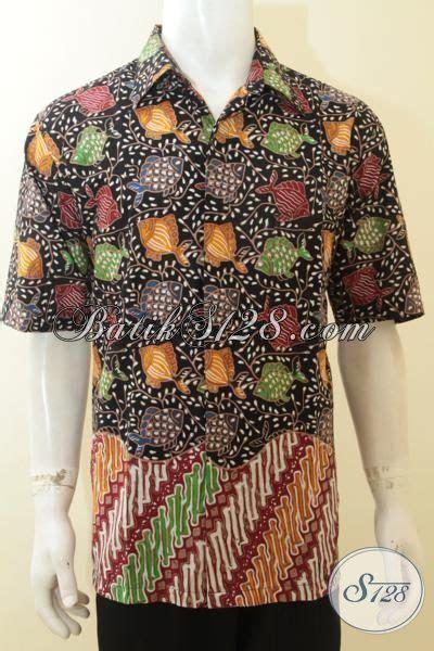 Batik Hem Ikan baju batik pria warna dasar hitam motif ikan hem batik cap tulis lengan pendek kwalitas premium