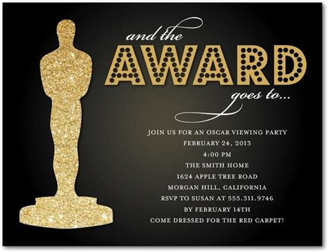 Oscar Invitation Template 17 best images about oscar on reels