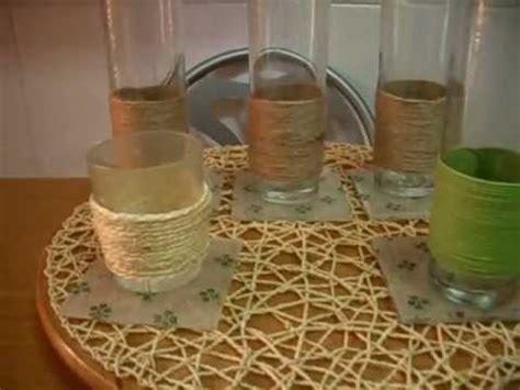 decorar jarrones con yute como forrar vasos con cuerda youtube