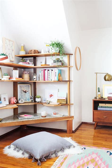 corner bed ideas easy diy corner shelves with extra storage home design