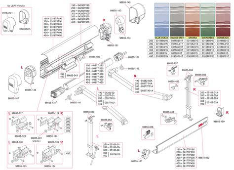 fiamma awning parts caravansplus spare parts diagram fiamma f45 ti 190 450