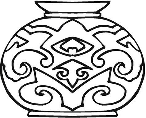 Pottery Coloring Pages vase pottery coloring page