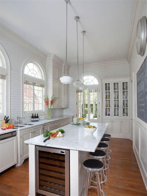 narrow kitchen home design ideas pictures remodel  decor