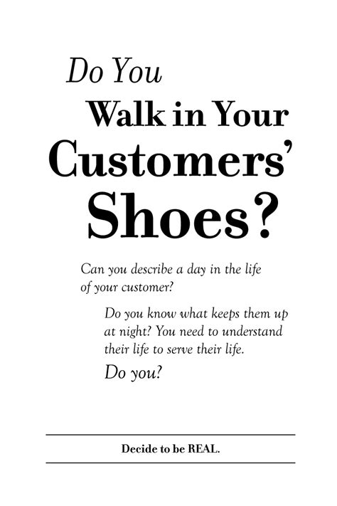 do you walk in your customers shoes customer bliss