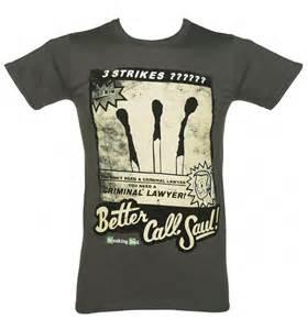 better call saul t shirt s charcoal better call saul three strikes breaking bad