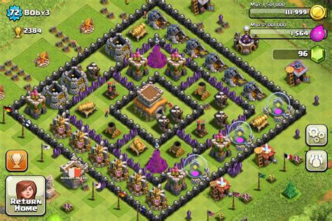 coc village layout level 8 town hall level 8 clash of clans