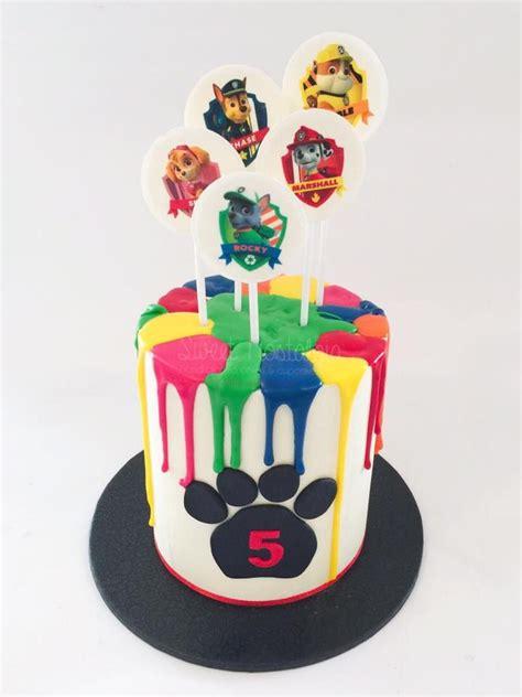 Mini Drip Cake In  Ee  Paw Ee    Ee  Patrol Ee  Lours Party Time