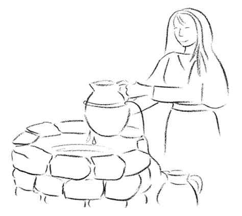 jesus and the samaritan at the well coloring pages picture coloring book gospel samaritan