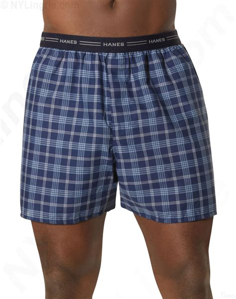 boxers for hanes s yarn dyed plaid boxers 5 pack