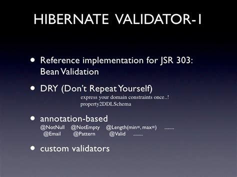 pattern annotation validation enterprise java web application frameworks sle stack