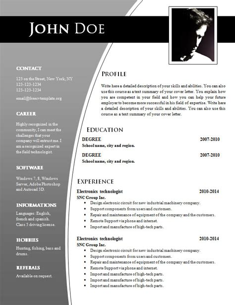 Resume Format Word Document by Cv Templates For Word Doc 632 638 Free Cv Template Dot Org