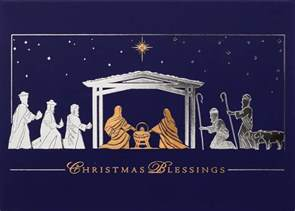 Cards With Nativity - gold and silver nativity nativity from cardsdirect