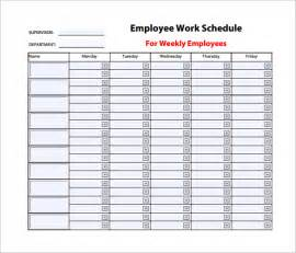 Employee Schedule Template by Employee Work Schedule Template Printable Calendar