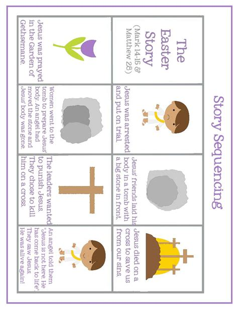 printable children s easter story easter preschool pack of printables mary martha mama