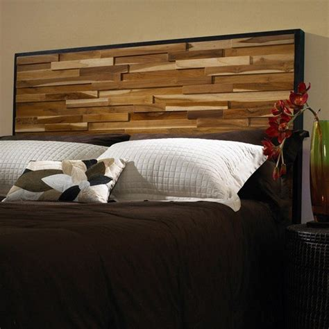 Modern Wood Headboard | reclaimed wood panel headboard modern headboards by