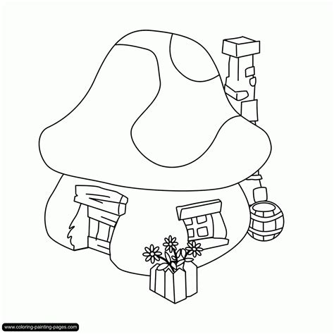 villager coloring page my picture smurf village coloring pages
