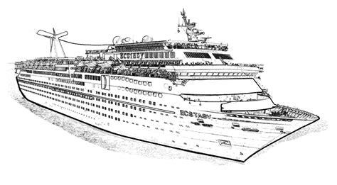 barco crucero dibujo crucero para colorear imagui